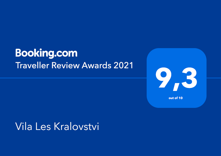 Certifikát Booking.com - Vila Les Království